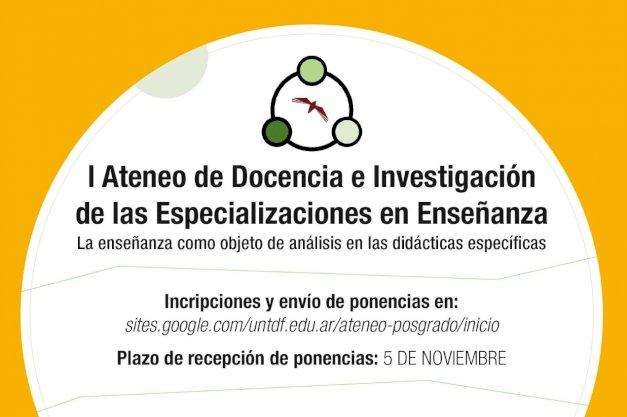 Flyer del primer ateneo de Docencia E investigacion del IEC