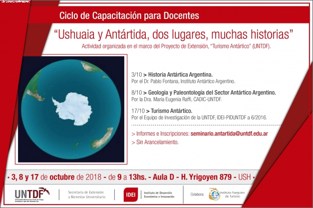 Inició dos ciclos de capacitación sobre Turismo Antártico para docentes y guias de Turismo