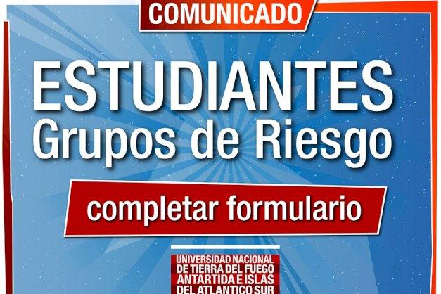 Comunicado a ESTUDIANTES que estén en el GRUPO de RIESGO