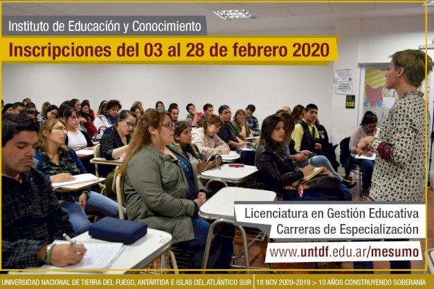 Formación docente: ya está disponible la oferta de carreras UNTDF 2020