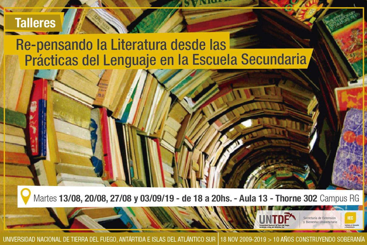 La UNTDF invita a reflexionar sobre la Literatura en la Escuela Secundaria