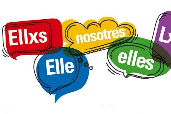Imagen con palabras en Lenguaje Inclusivo: Elles, Les, Nosotres etcétera