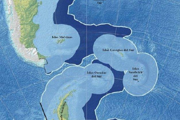 Mapa Antartida e Islas del Atlantico Sur