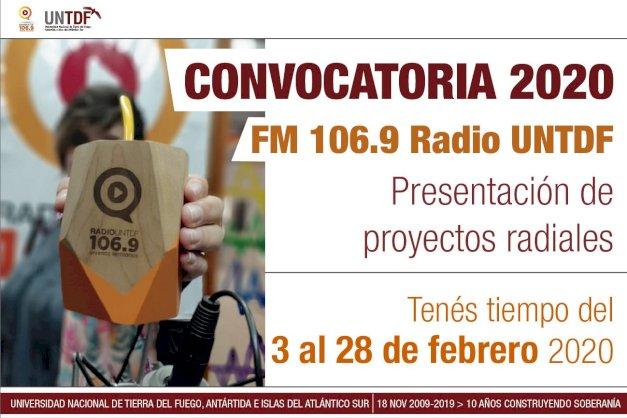 Convocatoria de Radio UNTDF para programas radiales 2020