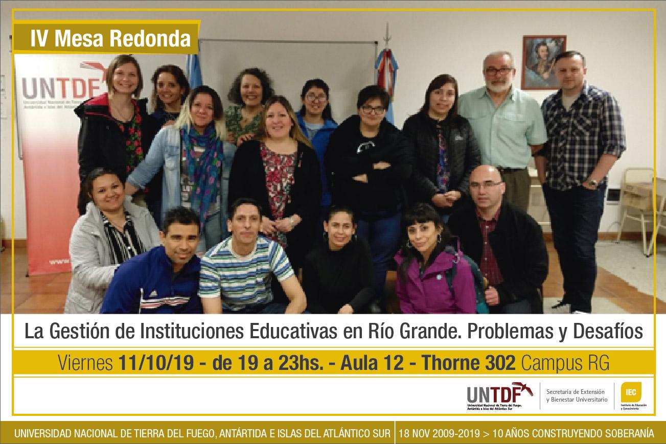 Nuevo encuentro sobre la Gestión en Instituciones Educativas